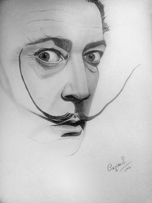 Super Portrait of Salvador Dali by Cynthia on Stars Portraits GZ54